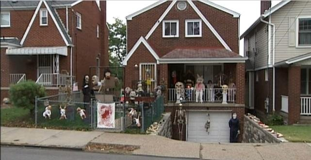 Some say Pennsylvania homeowner went overboard on Halloween decorations
