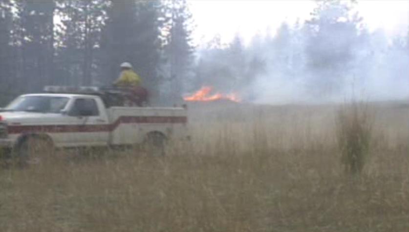 Crews battle a brush fire during Firestorm in 1991.