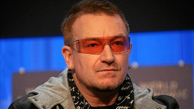 Bono says he wears sunglasses all the time because he has glaucoma.