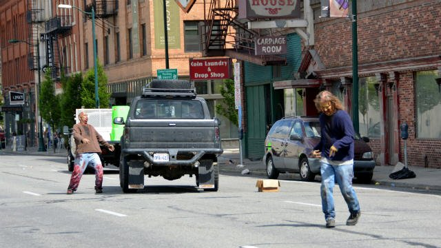 Photo from the filming of the first season of 'Z Nation' in downtown Spokane