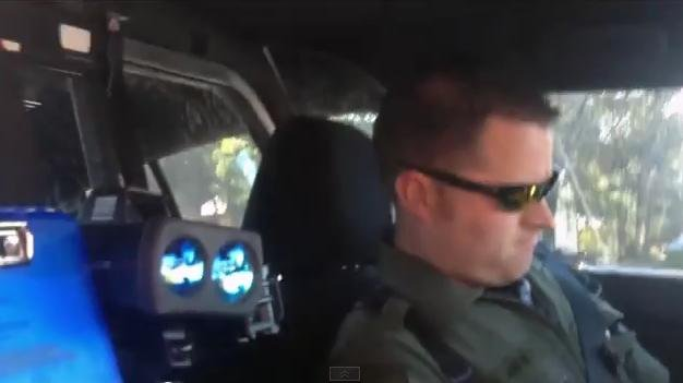Video of a deputy with the Grant County Sheriff's Office being flagged down by citizen Gavin Seim (PHOTO/VIDEO: YouTube/Gavin Seim)