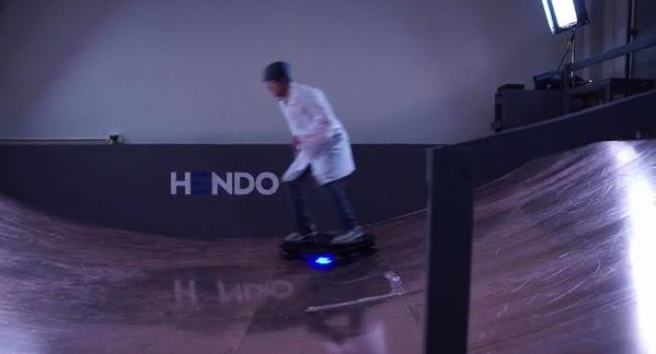Hendo unveiled a hoverboard. They have launched a Kickstarter campaign to perfect the technology. (PHOTO: Kickstarter/Hendo)