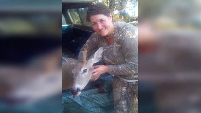 "Amy Calkins was hunting near Mt. Spokane when she shot her first buck, but the buck is actually a doe, with one large horn stemming from the middle of its head, coining the name ""Unicorn Deer"""