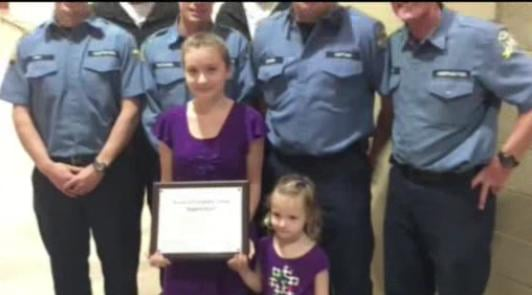 North Idaho girl honored for saving sister's life
