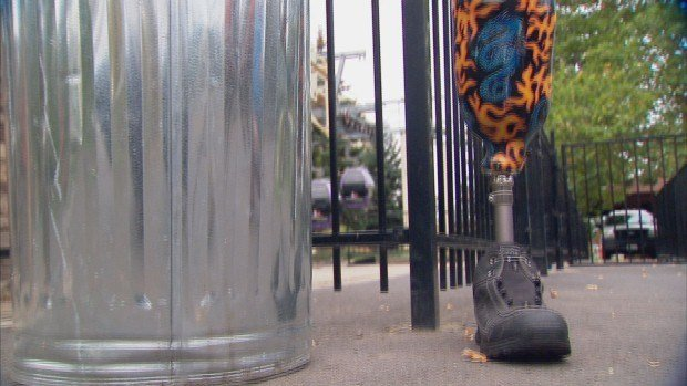 A very unique item has been sitting in Riverfront Park's lost and found for the last three months: A leg.