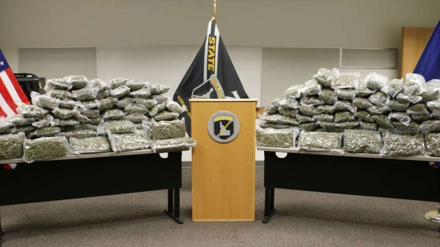 Idaho State Police seized around 150 pounds of marijuana during a traffic stop early Saturday morning near Meridian