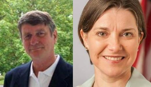 Rob Chase (left) is being challenged by Amy Biviano for Spokane County Treasurer