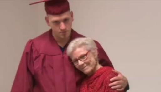 Patty Duke hugs graduate of Mental Health Drug Court