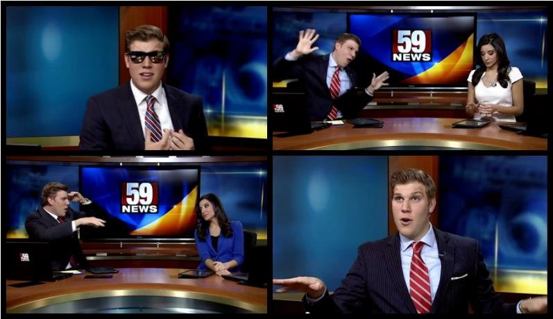 Dan Thorn, a news anchor from West Virginia gets his dance on.