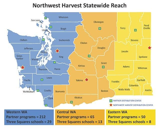 Northwest Harvest Statewide Reach 2014