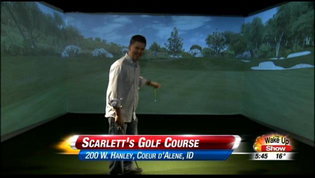 Matt Rogers works on his golf game at Scarlett's Golf