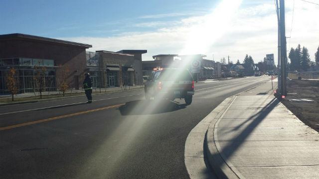 A gas leak shut down Regal near the new Target on Thursday