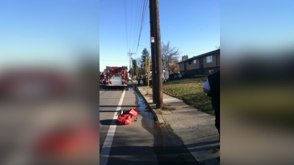 Firefighters responding to a house fire in Spokane Valley on Thursday