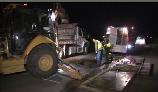City crews respond to water main break