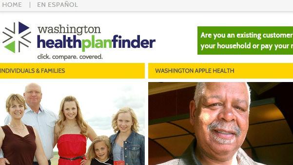 Washington healthplanfinder is up and running Sunday morning.
