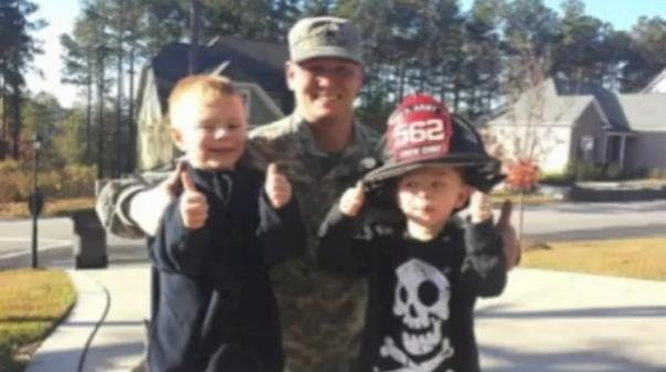 U.S. Army firefighter, Sergeant Brian Hessler surprised his two sons with a staged fire drill at their home after a deployment overseas.