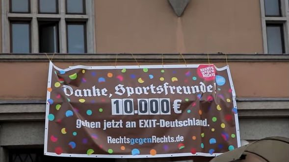 Neo-Nazis in a small German town unwittingly raised 10,000 euros for an anti-extremist charity