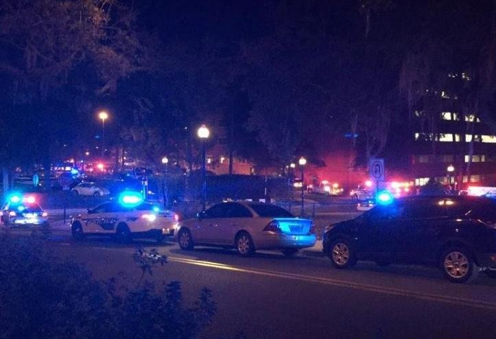 Picture of the scene tweeted by Florida State University student