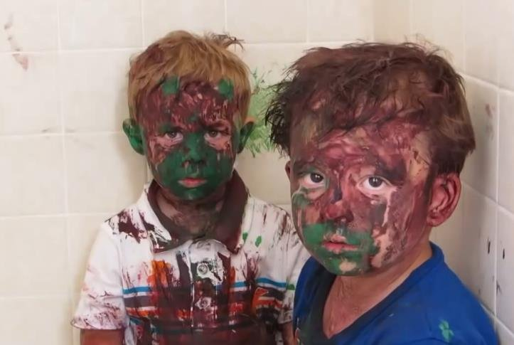 "Two brothers get into paint are are in ""big trouble."""