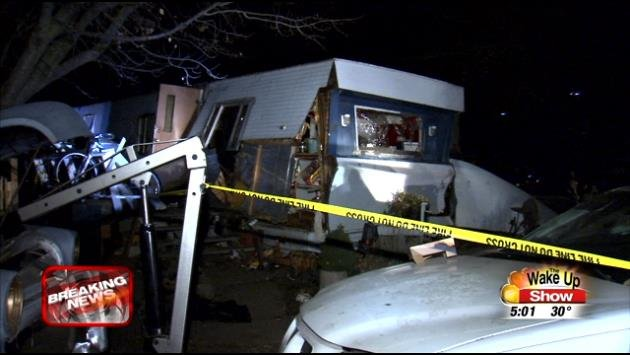 Mobile Home Explodes Overnight News Weather