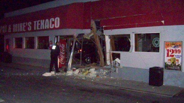 23-year-old Justyn Corter of Chelan drove his SUV through Pat and Mike's on Wednesday