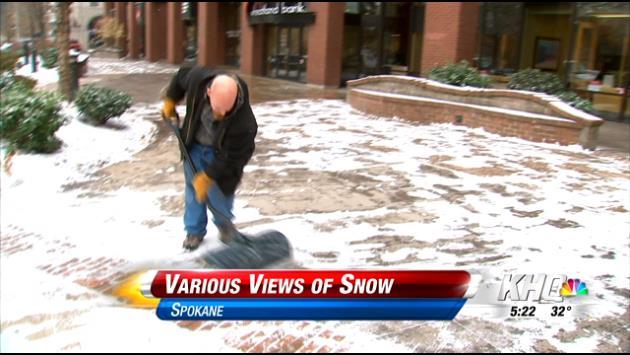 Various views of snow