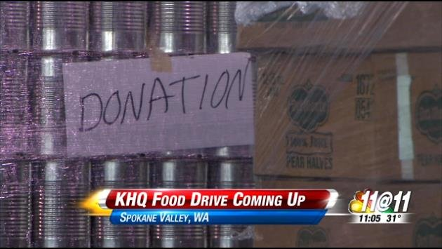 Upcoming KHQ Food Drive