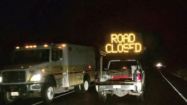 Highway 904 west of Cheney is closed tonight following a rollover crash.