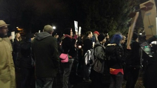 Ferguson protesters rally and march in Spokane.