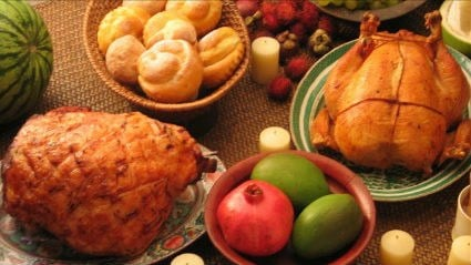 The calories add up fast on Thanksgiving!