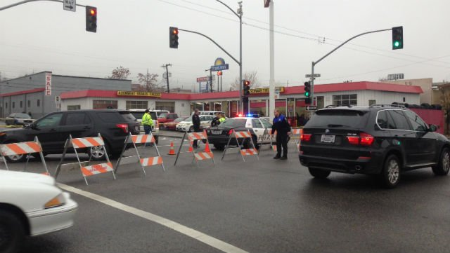 One man suffered life-threatening injuries after being hit by a car at 2nd and Browne