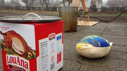 Be very careful when deep frying a turkey this Thanksgiving