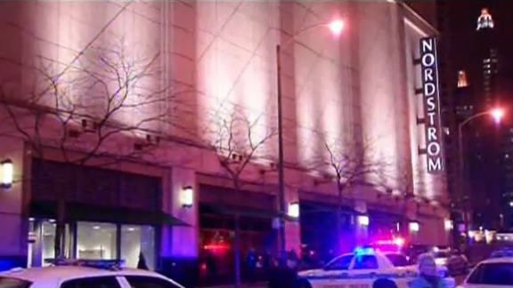 Chicago police say a man shot his girlfriend before fatally shooting himself in a Nordstrom in Chicago's River North neighborhood. Photo: NBC