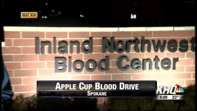 Apple Cup blood drive
