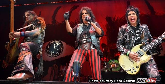 """""""We're not worthy!"""" Alice Cooper and his band play the Spokane Arena in November."""