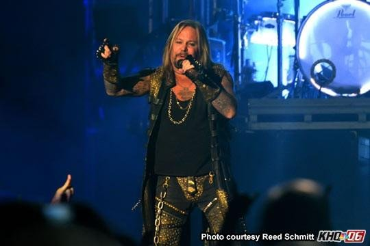 Motley Crue's Vince Neil plays at the Spokane Arena