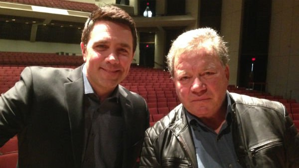 KHQ's Sean Owsley next to William Shatner