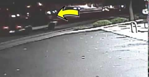 Detectives would like to speak with the driver of this dark colored vehicle regarding a hit and run in Spokane Valley