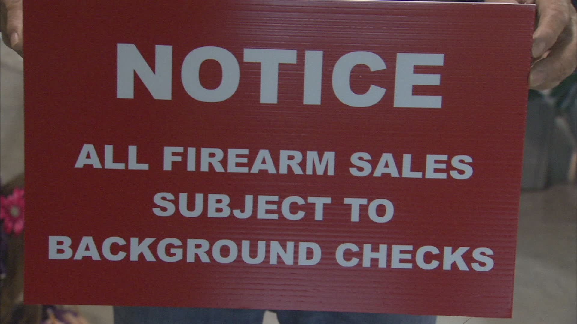 Background check for firearms