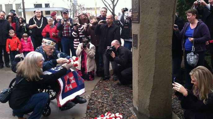 Five Spokane men were honored on Pearl Harbor Remembrance Day.