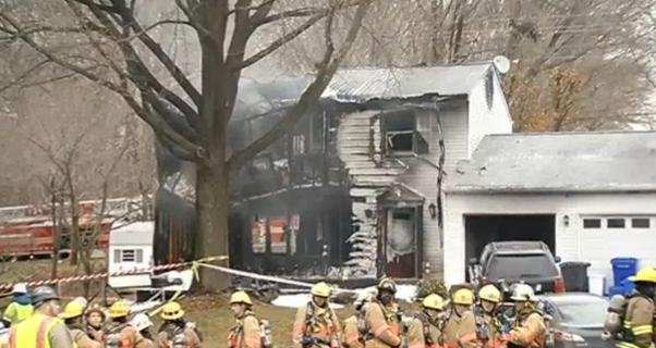 A small, private jet crashed into a house in Maryland's Montgomery County, killing three people on board the plane and leaving three residents of the home unaccounted for.