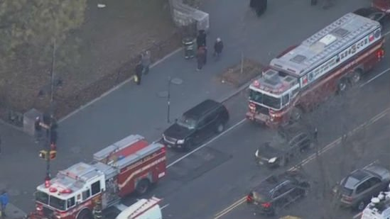New York's American Museum of Natural History has been evacuated after smoke filled its first floor. Photo: NBC