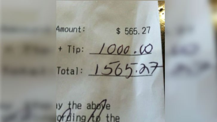 A generous customer left a generous tip after ordering 'one of everything' from The Boiler Room in Spokane.
