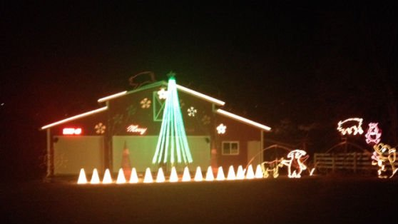 Gary Kuhn's light display in the South Hill.