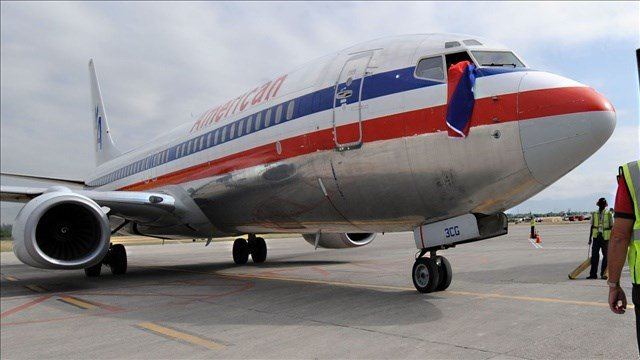An American Airlines jet encountered severe air turbulence shortly after takeoff from Seoul, South Korea, injuring four passengers and a crew member.