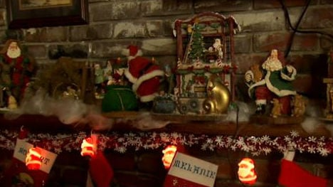 There's nothing subtle about this family's Christmas display.