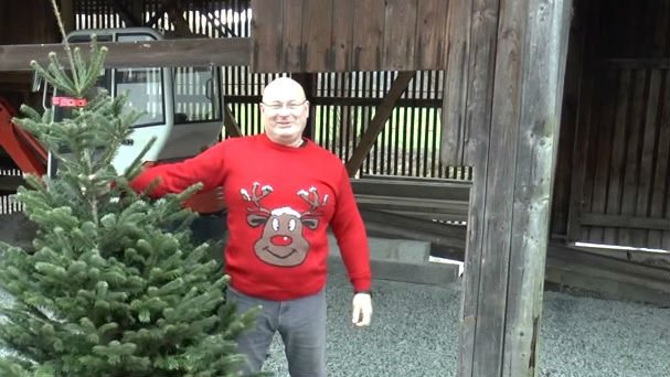 This YouTube user built a slingshot that launches Christmas trees.