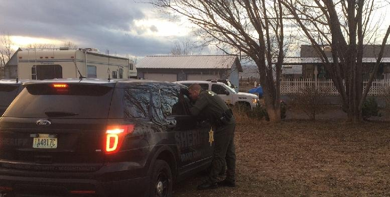 The scene from the shooting Tuesday afternoon near Soap Lake