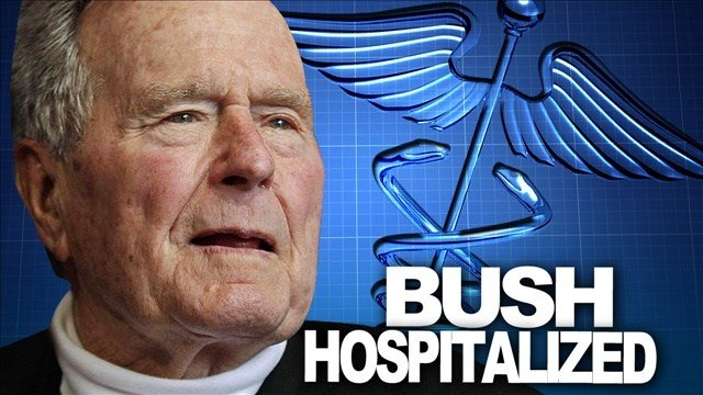 Former President George H.W. Bush remains in a Houston hospital on Christmas Day after experiencing shortness of breath two days ago.