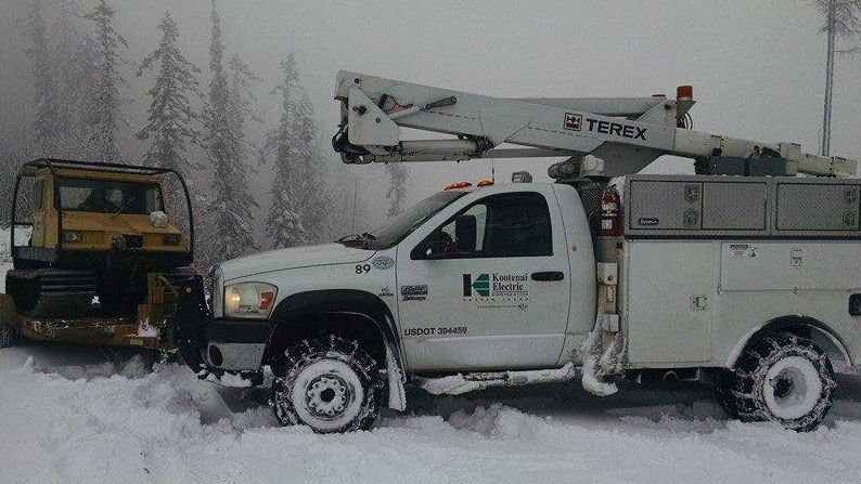 KEC crews worked through the night to restore power.